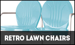 Retro Lawn Chairs, 1950s Lawn Chairs, Metal Lawn Chairs