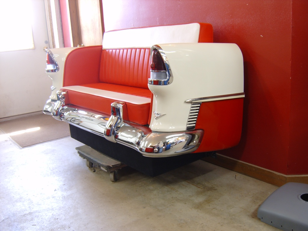 Retro Automotive Car Couches Car Chairs Car Desks: custom furniture made car parts